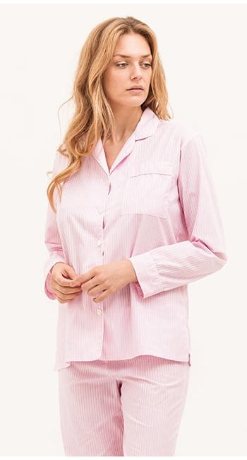 Windermere Pink Stripe Pyjamas