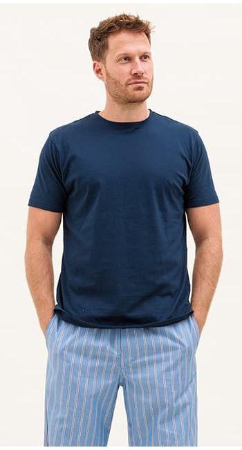 mens blue stripe pyjama bottoms