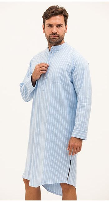 mens brushed cotton nightshirt