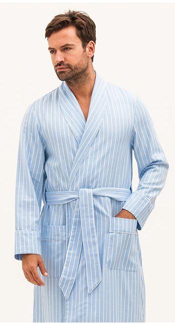 mens luxury brushed cotton robe