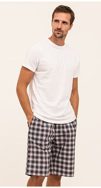 mens cotton bed shorts