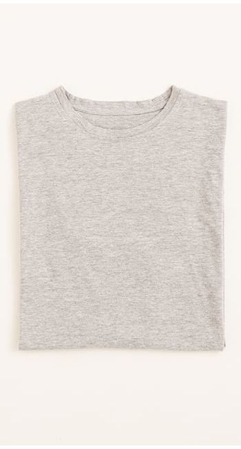 mens organic cotton tshirt in charcoal grey