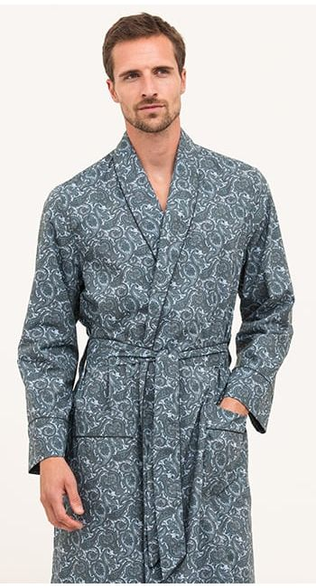luxury brushed cotton dressing gown