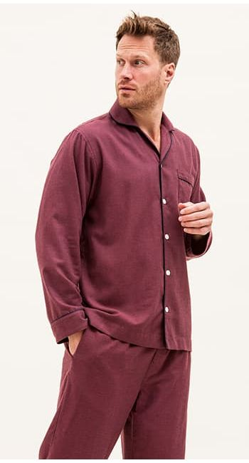 mens blue pyjamas