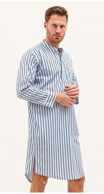 mens classic blue nightshirt