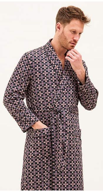 mens paisley dressing gown