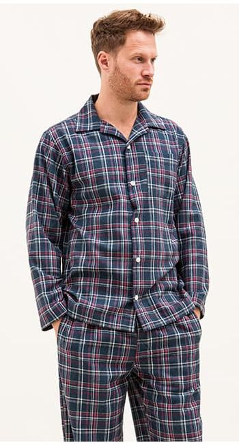 mens wool pyjamas