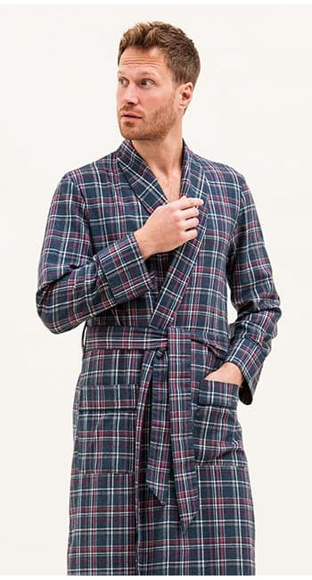 mens luxury wool dressing gown