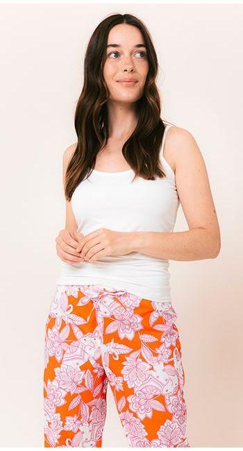 womens summer pink pj bottoms
