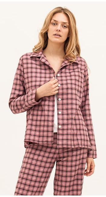 luxury pyjamas in a cotton and wool blend