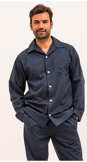 mens luxury pinstripe pyjamas
