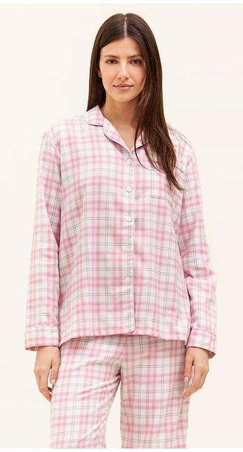 pink brushed cotton pyjamas