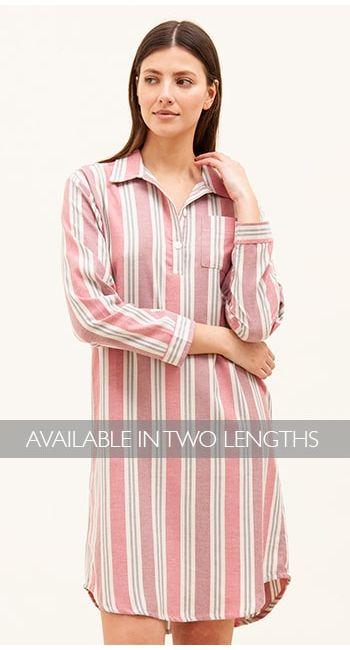 brushed cotton pink nightshirt