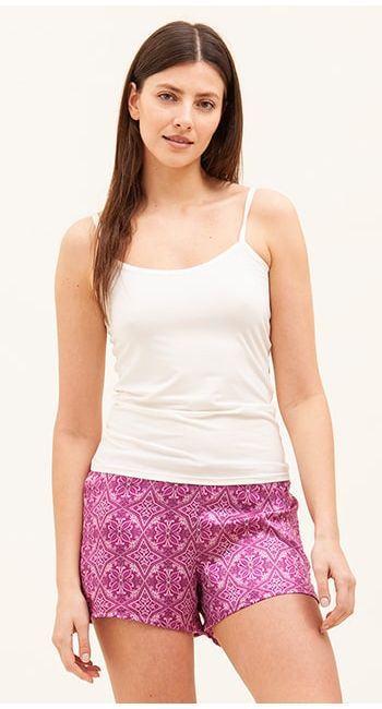 womens luxury silk pyjama shorts