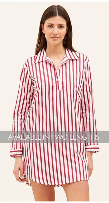 egyptian cotton striped nightshirt