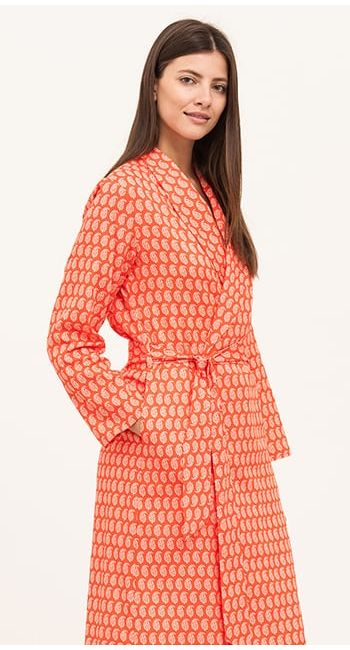 luxuy cotton dressing gown