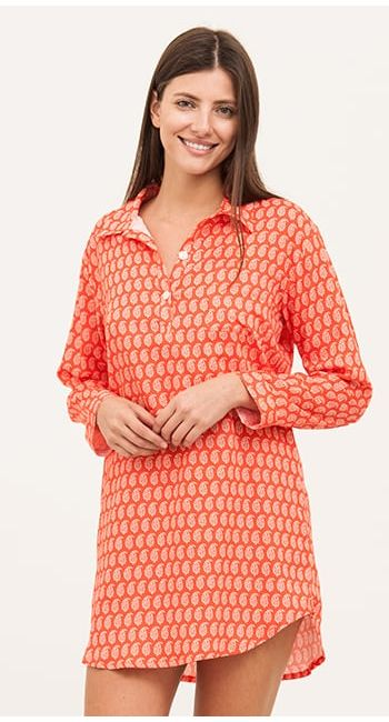 pretty knee length nightshirt