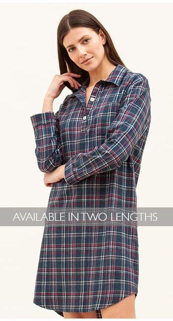 Tobermory Check Wool Blend Nightshirt