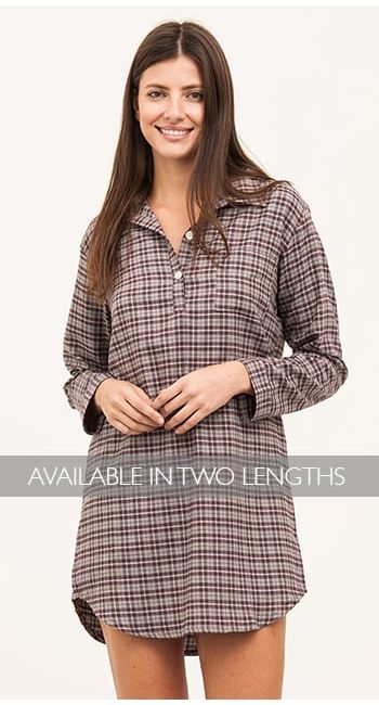 ladies organic cotton nightshirt