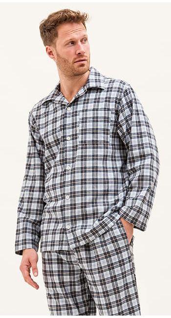 mens wool pyjamas