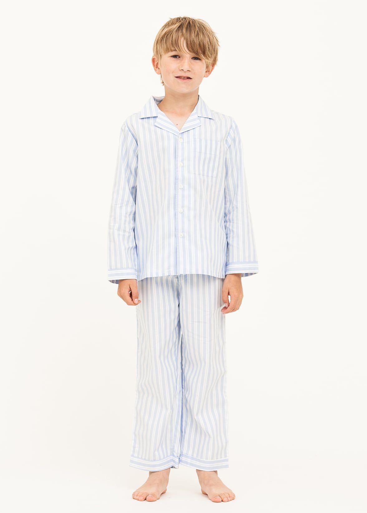60ef199f8d04 Boys Blue   White Striped Pyjamas