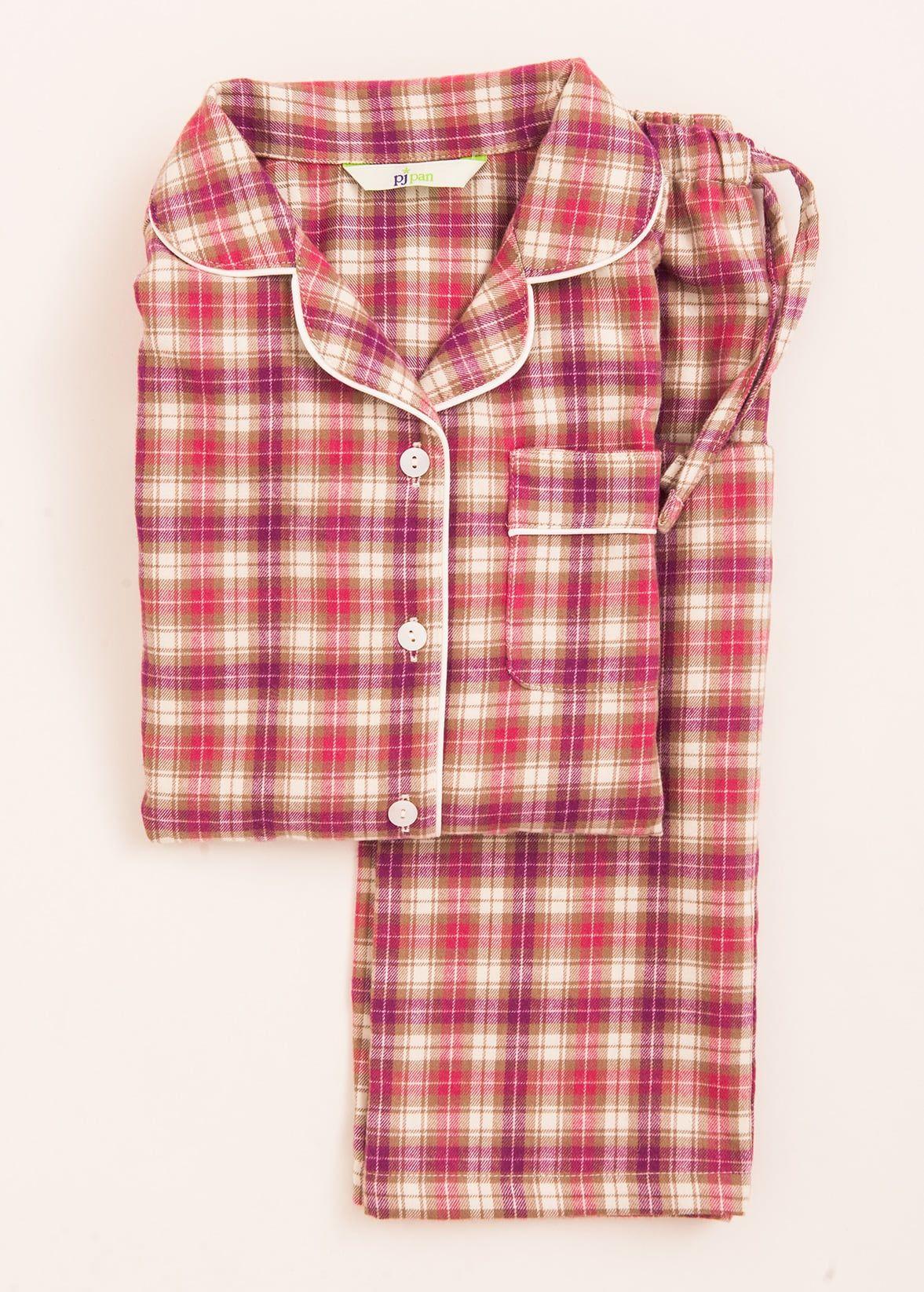 Girls Traditional Pink Check Pyjamas  ea9bf4fd4