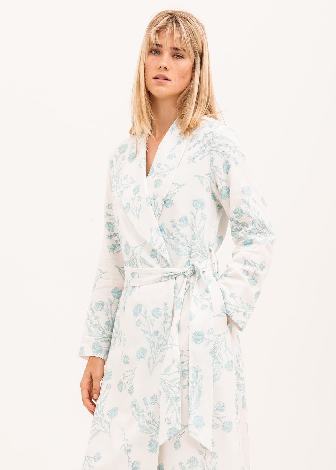 Lightweight Cotton Dressing Gown | Pretty Floral Print | Made in UK ...