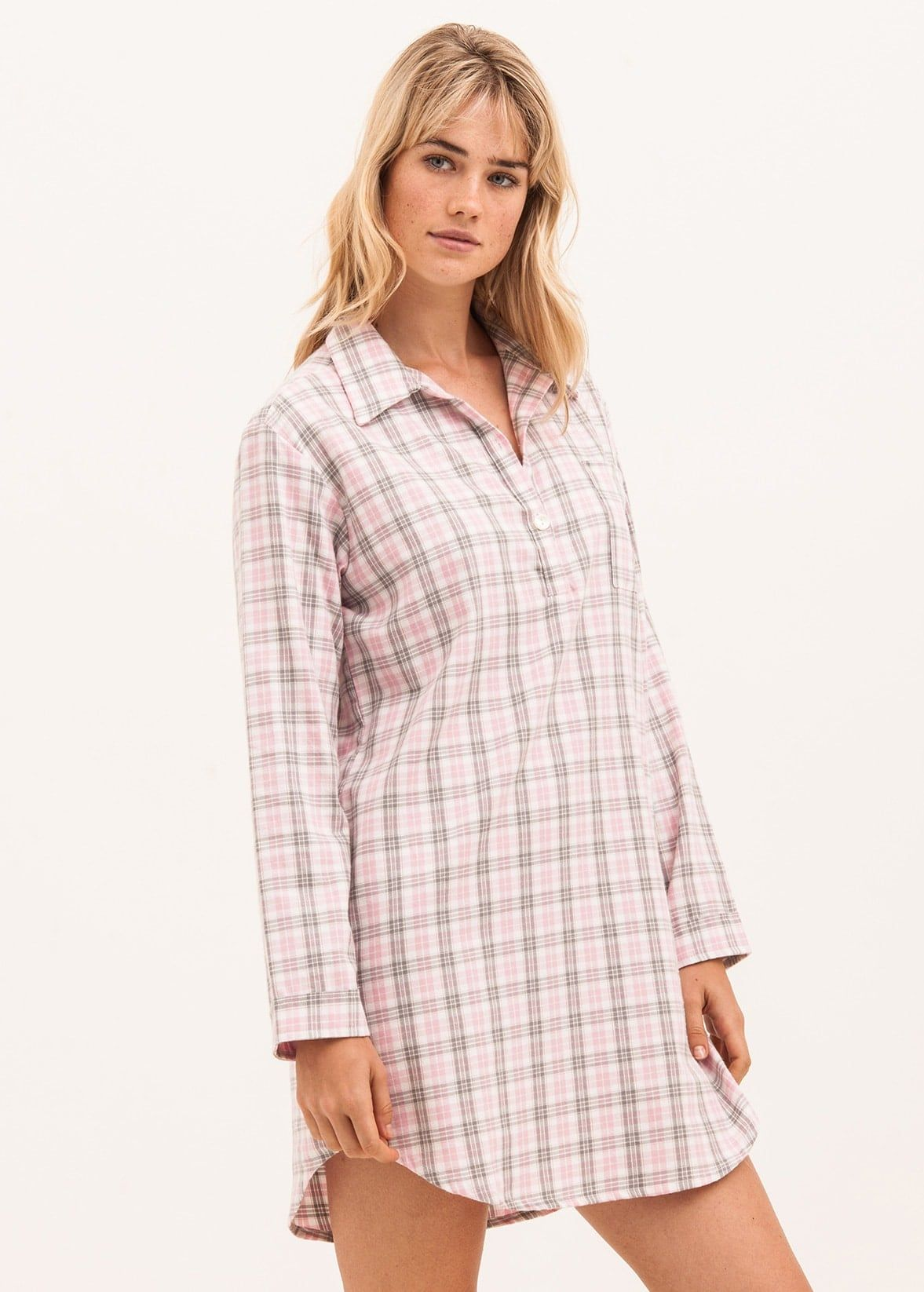 Ladies Pretty Brushed Cotton Nightshirt  af786e574
