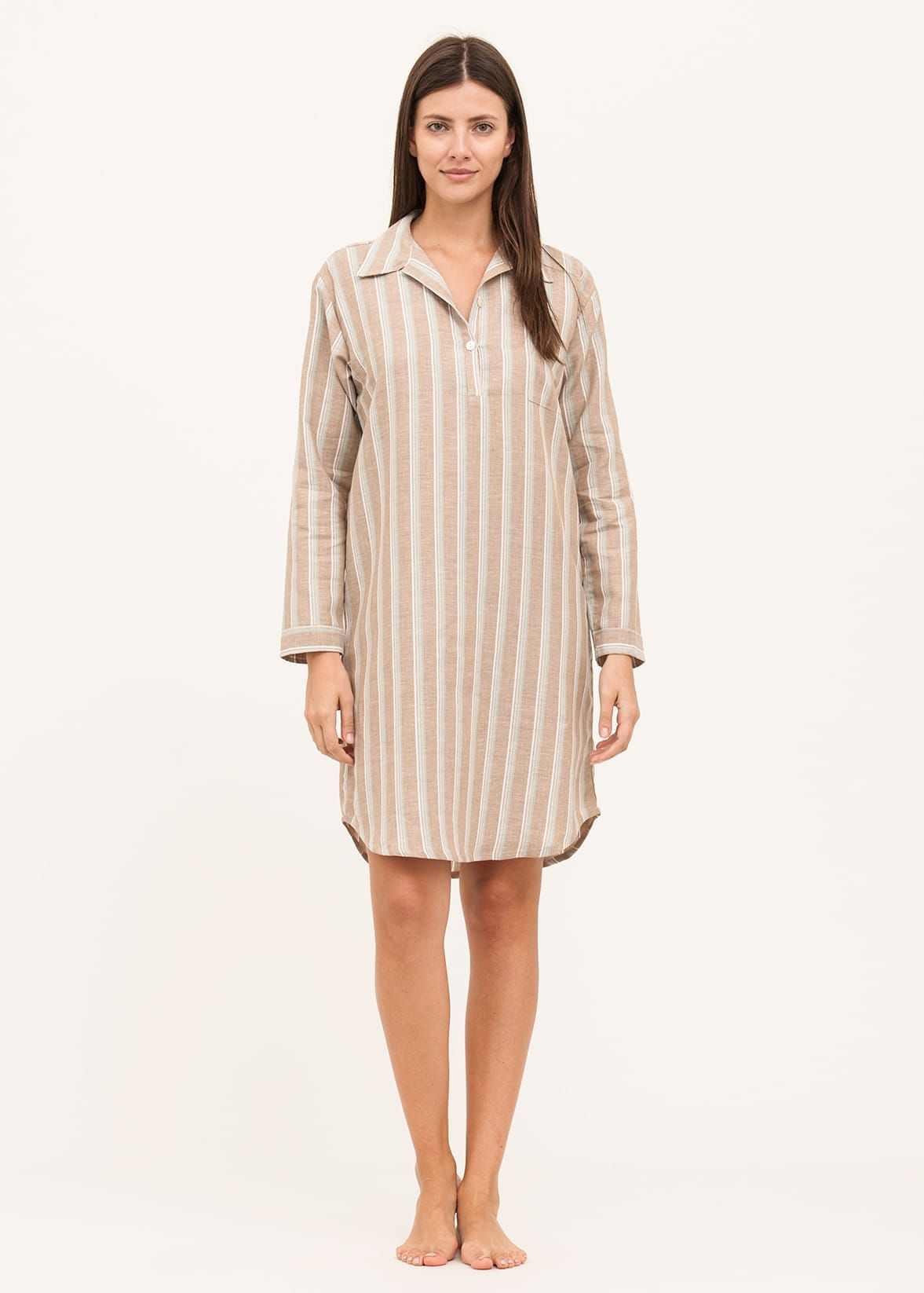 Ladies Linen Nightshirt  1a9b13886