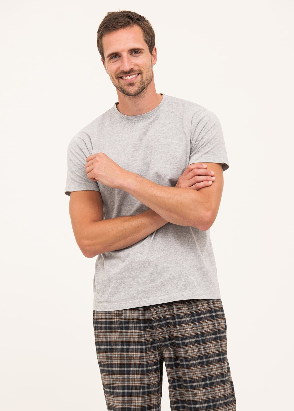 mens grey check pj bottoms. mens quality brushed cotton pjs ee0d9a760