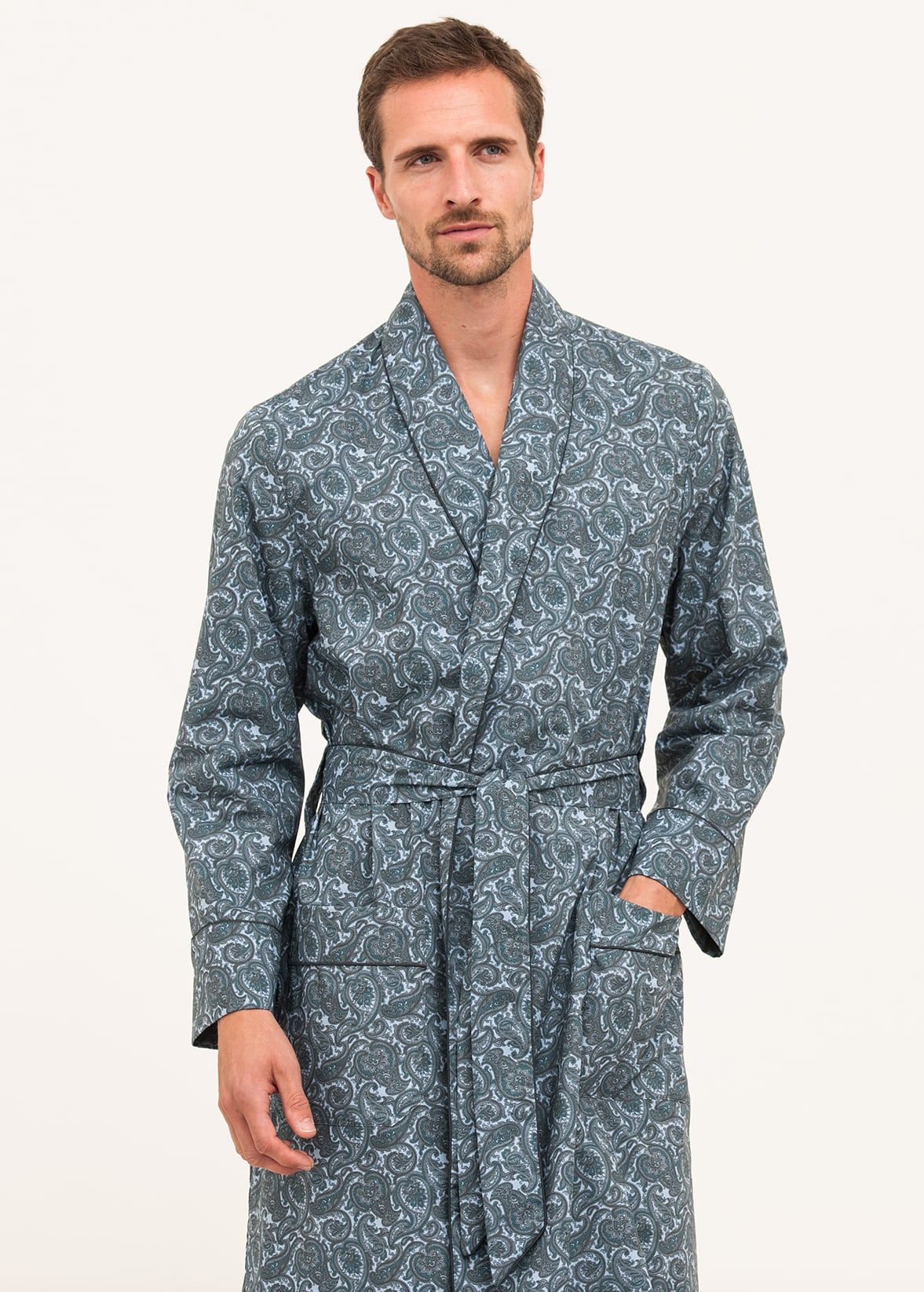 mens paisley cotton gown. mens paisley dressing gown 8942036cb