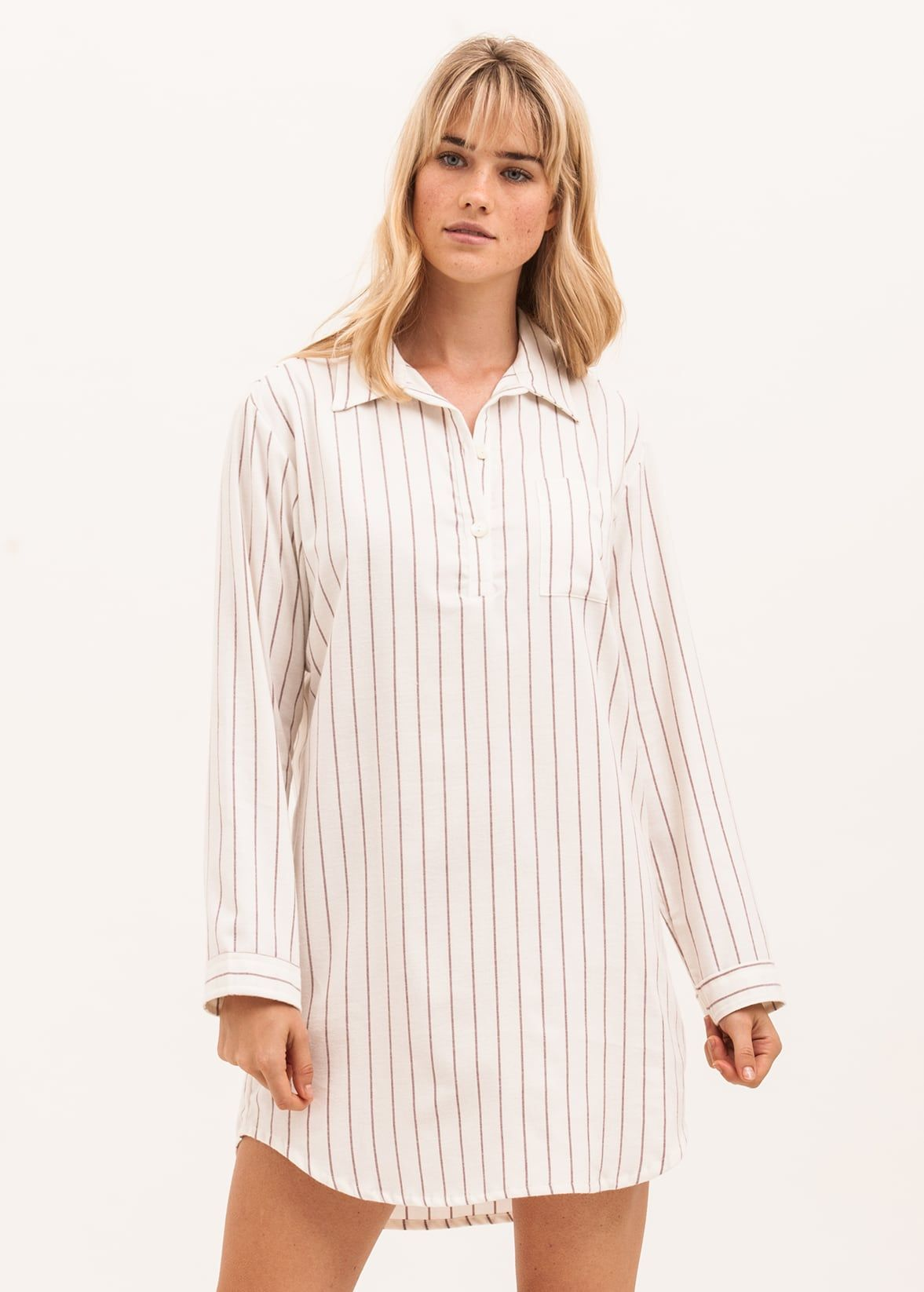 c5651a7d74 Ladies  Luxury Brushed Cotton Nightshirt