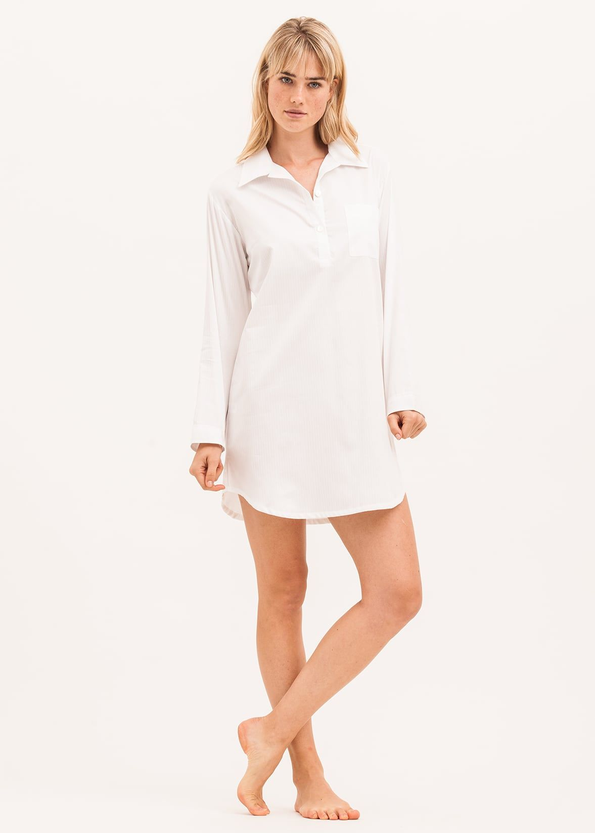 white cotton nightshirt f00d94a09