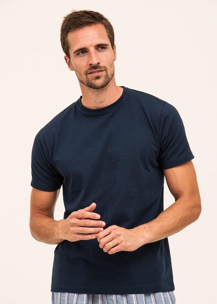 Men's organic cotton t-shirt in navy